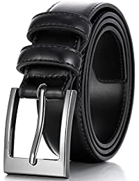 Marino's Men Genuine Leather Dress Belt with Single Prong...