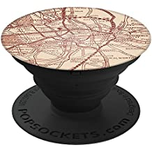 Culture of Pop Vintage Map of London England Europe PopSockets Stand for Smartphones and Tablets