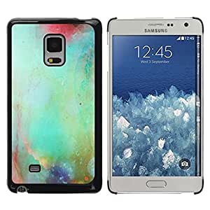 FECELL CITY // Duro Aluminio Pegatina PC Caso decorativo Funda Carcasa de Protección para Samsung Galaxy Mega 5.8 9150 9152 // Pastel Nature Glass Blurry Teal