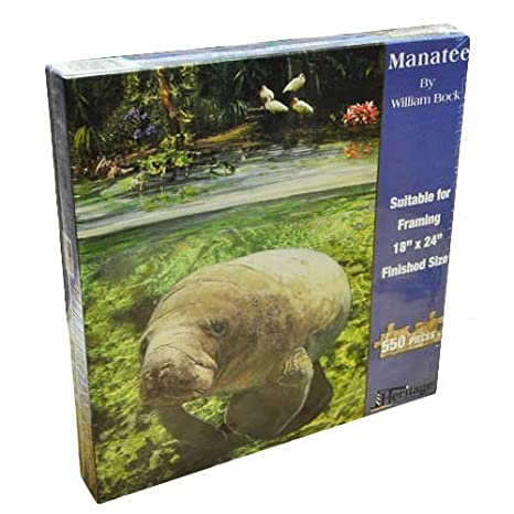 amazon com heritage puzzle william bock manatee jigsaw puzzle