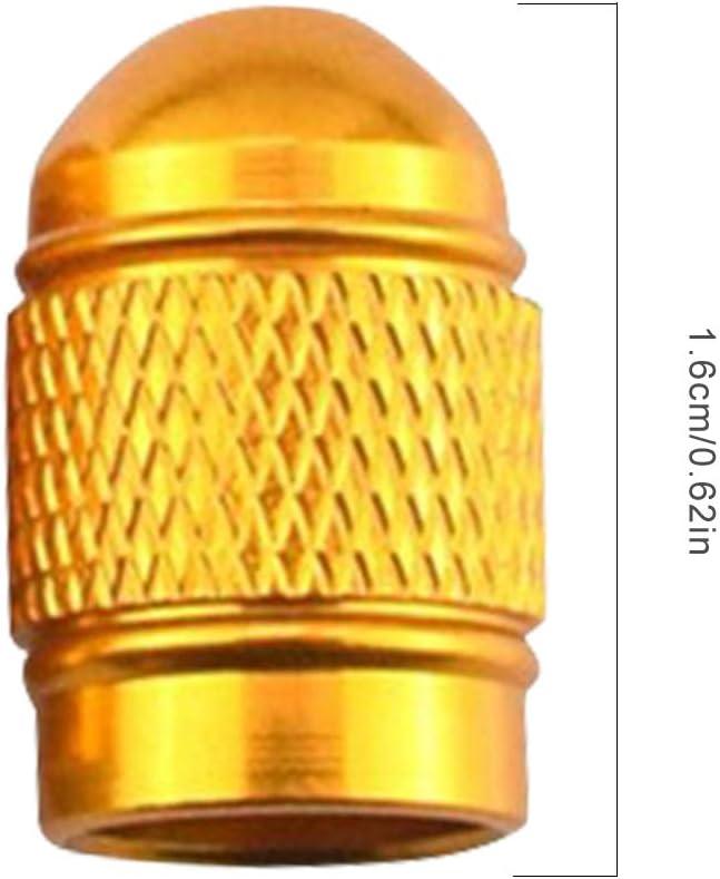Amarillo ben-gi 4 PC//Sistema neum/ático del Coche de v/álvula de v/ástago Accesorios v/álvula de Aire del neum/ático Rueda de Aluminio del tap/ón Antipolvo de Automoci/ón