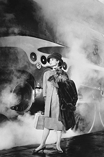 Audrey Hepburn in Funny Face Classic Pose By Vintage Steam Train 18x24 Poster