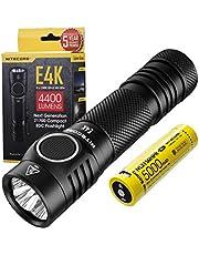 Nitecore E4K - LED zaklamp extreem helder - 4400 lumen IP68 LED waterdicht