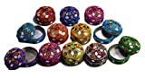 A Set of 12pcs Jewelry Boxes Home Decor Mirror Work,beaded Fashionable Multi Color Jewellery Boxes Review