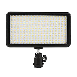 GIGALUMI W228 LED Video Light 6000k Dimmable Ultra Bright Panel Digital Camera / Camcorder Light, LED Light for Canon, Nikon, Pentax, Panasonic, Sony, Samsung and Olympus DSLR Cameras( No Battery )