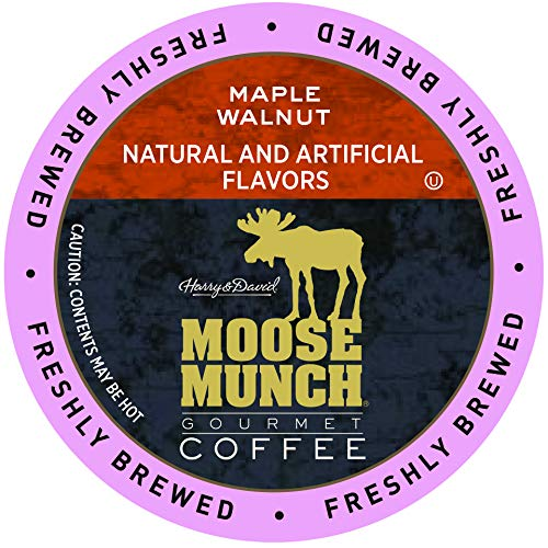 Moose Munch Coffee in Single Serve Cups for use with all Keurig K-Cups Brewers 36 Count (Maple Walnut)