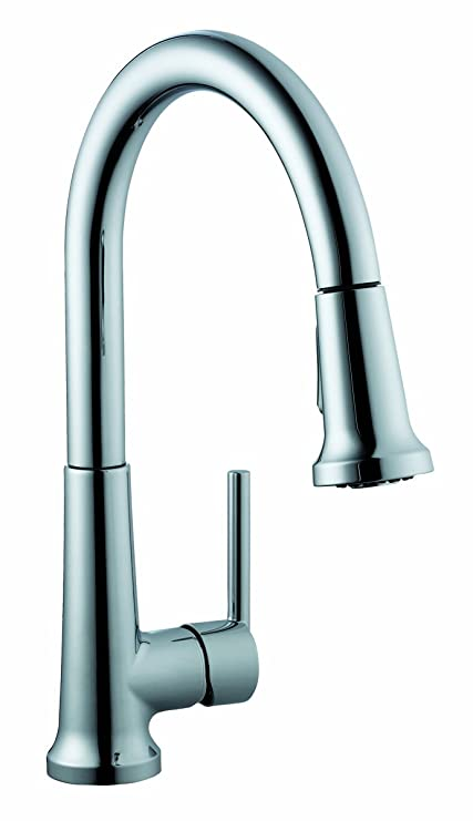 wonderful Design House Kitchen Faucet Part - 8: Design House 525725 Geneva Pull-Down Kitchen Faucet, Polished Chrome