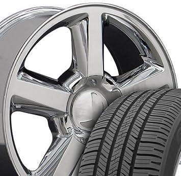 20 x 8,5 ruedas y neumáticos para GM Camiones y SUVs - Chevy Tahoe estilo cromado Llantas W/Goodyear neumáticos, Hollander 5308 - Set: Amazon.es: Coche y ...