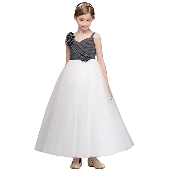 7f1c0d2dcd OBEEII Flower Girls Bridesmaid Wedding Dress Elegant Halter Lace Princess  Maxi Dresses Prom Communion Birthday Evening Party Baptism Pagent Dance Gown  ...