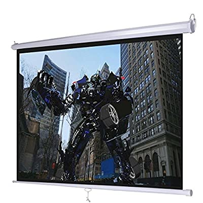 "Giantex 120"" 4:3 Manual Pull Down Auto-lock Projector Projection Screen 96""x72"" White"