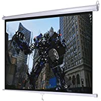 Giantex 120 4:3 Manual Pull Down Auto-lock Projector Projection Screen 96x72 White