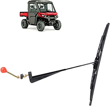 Hand operated windshield wiper for Polaris RZR