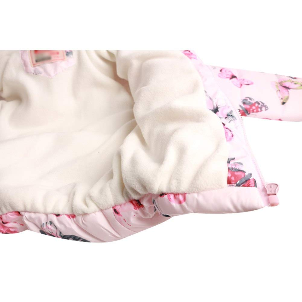 G-Kids Baby M/ädchen Winterjacke Mantel Kleinkinder S/ü/ß Blume Druck Warme Daunenjacken Trenchcoat Praka Fleecejacke mit Kapuzen