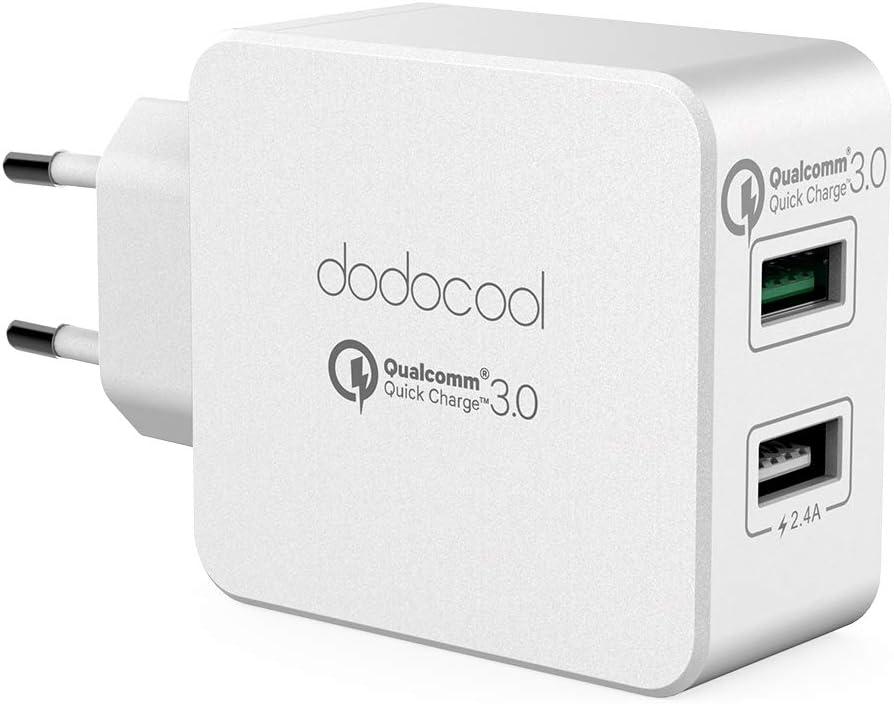 dodocool Quick Charge 3.0 Caricatore USB da Muro a 2 Porte