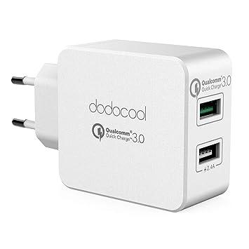 dodocool 30W Cargador de Pared Dual USB con Adaptador de Carga Quick Charge 3.0 para LG G5 / HTC One A9 / Xiaomi Mi 5 / LeTV Le MAX Pro etc