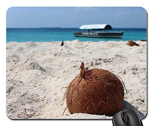 (Mouse Pad - Coconut Beach Sand Sand Beach Boot Sea)