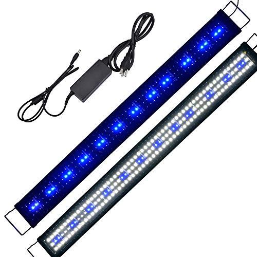 Hood Led Lighting Fish Tank Light, White and Blue Adjustable 48'' - 60