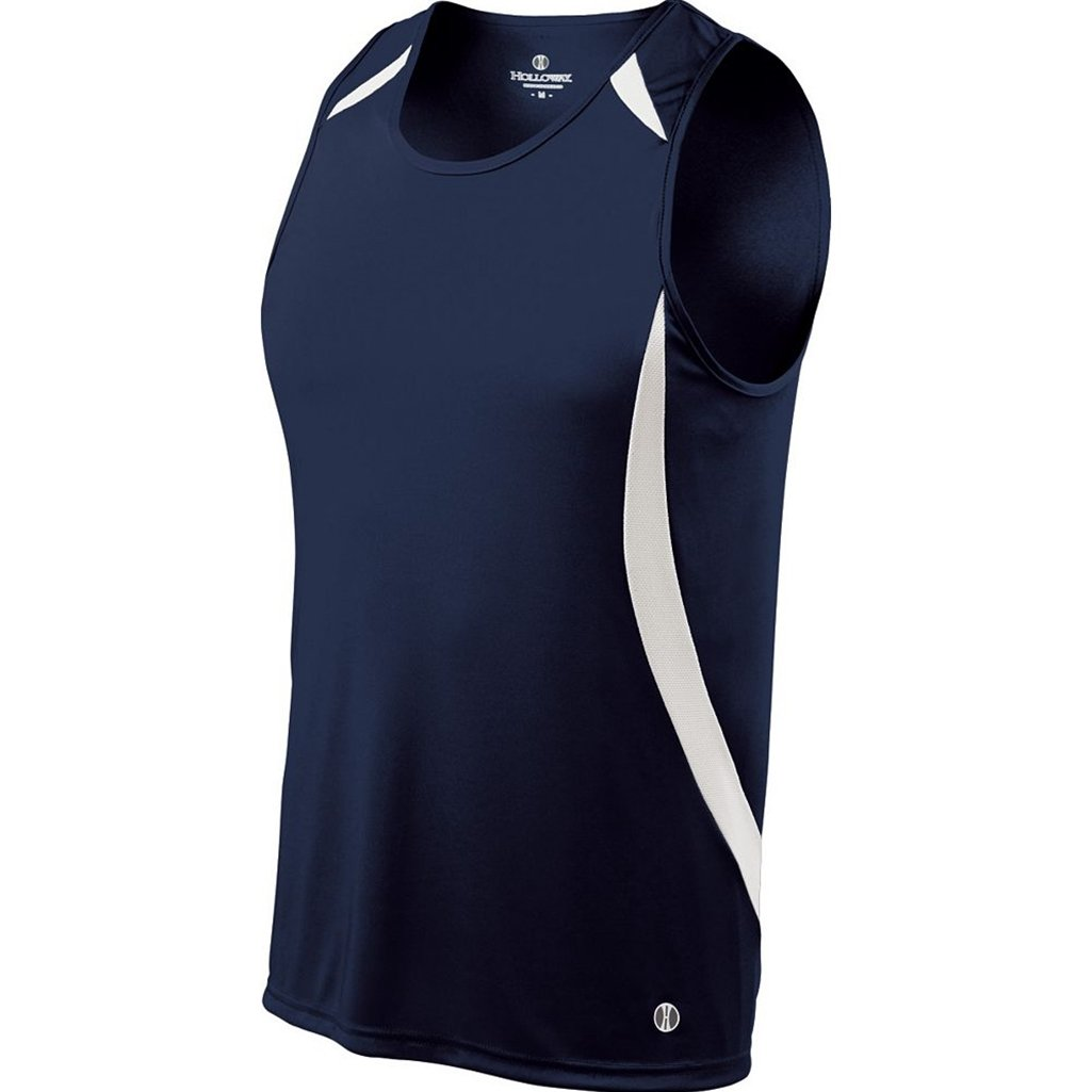 Holloway Youth Sprinter Singlet (Youth Large, True Navy/White) by Holloway