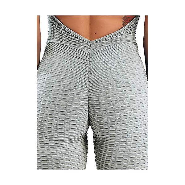 INSTINNCT Damen Sport R/ückenfrei Jumpsuit Yoga Bodysuit Overall Leggings Sporthosen Bandage Playsuits Jogging Strampler Hosenanzug Trainingsanzug