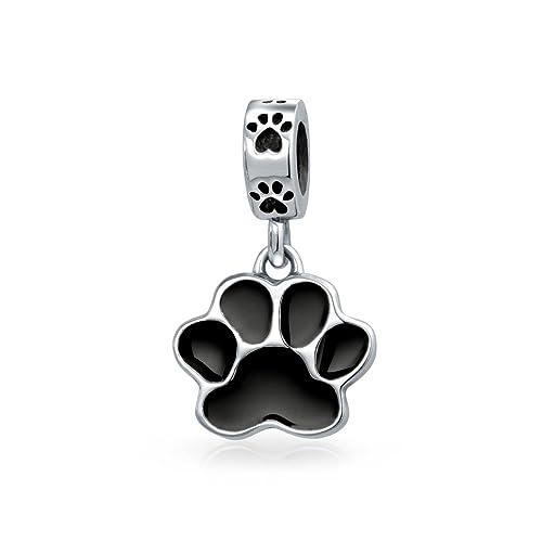 c088df666 Amazon.com: Black Dog Cat Puppy Kitten Paw Print BFF Pet Animal ...