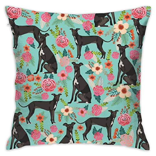 ORASYA Polyester Soft Decorative Square Italian Greyhound Throw Pillow Cover Cushion Covers Pillow Case Home Decor Decorations for Sofa Couch Bed Chair 18 X 18 Inch/45 X 45 cm