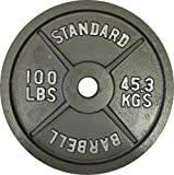 Ader Olympic Plate (Gray Finished, 100 Lb)