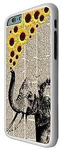 """Carcasa Posterior de Plástico Duro y Metal con Diseño a la Moda de Elefante Arrojando Flores de la Trompa para iPhone 6 Plus de 5.5"""""""