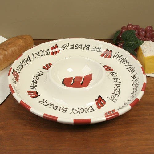(University of Wisconsin Badgers 2-in-1 Chip & Dip Bowl)