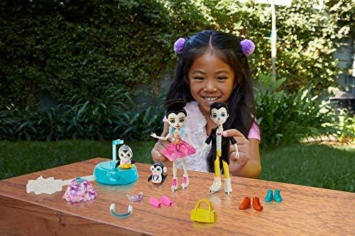 Enchantimals GJX49 - Eiskunstläufer Spielset mit Patterson Penguin & Preena Penguin Puppen, Gleiter für rasante Pirouetten, Spielzeug ab 4 Jahren
