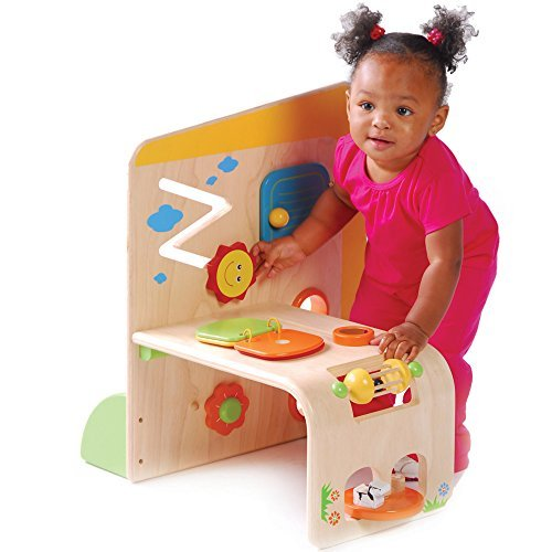 Wooden Early Exploration Panel Activity Center by Constructive Playthings