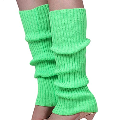 Shuohu Women Knit Winter Leg Warmers Stocking High Knee Legging Boot Socks - Green from Shuohu