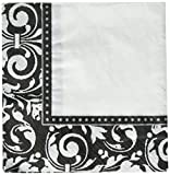 Amscan Party Ready Formal Affair Lunch Napkins Tableware, Saver Pack of 12 (Each Includes 16 Pieces), Paper