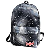 Galaxy Pattern School College Backpack Bookbags Tablet Bags for Girls Boys Students Women Men by SMYTShop (Black)