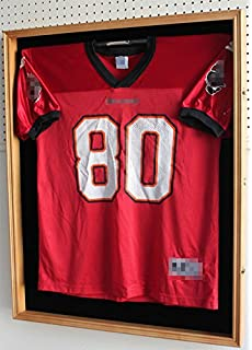 xx large football hockey jersey display case shadow box frame with hanger locks 98
