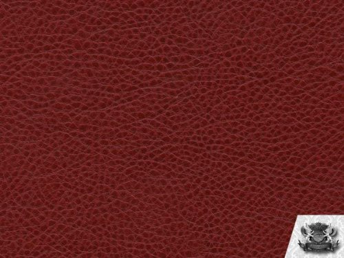 Vinyl Ford RED Fake Leather Upholstery Fabric By the Yard (Booth Bar Seating)