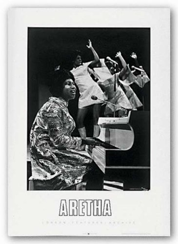 "Bruce Teleky Aretha Franklin by Anonymous 27.5""x19.75"" Art Print Poster from Bruce Teleky"