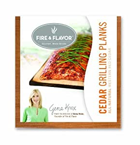 Fire & Flavor Single Serving 6x6 Cedar Plank (4-Count), 9.6-Oz Packages (Pack of 4) Garden, Lawn, Supply, Maintenance