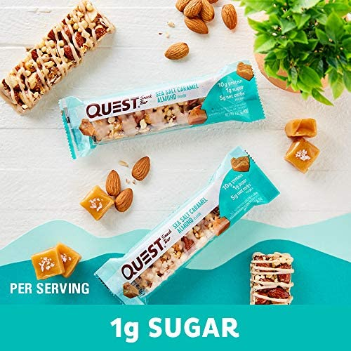 Quest Nutrition Sea Salt Caramel Almond Snack Bar, High Protein, Low Carb, Gluten Free, Keto Friendly, 12-Count 6