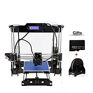LIYUSZ Upgraded DIY Desktop 3D Printer - Prusa i3 Kit, High Accuracy Self-Assembly Tridimensional FDM Printer with Free Rolls Filament Gift