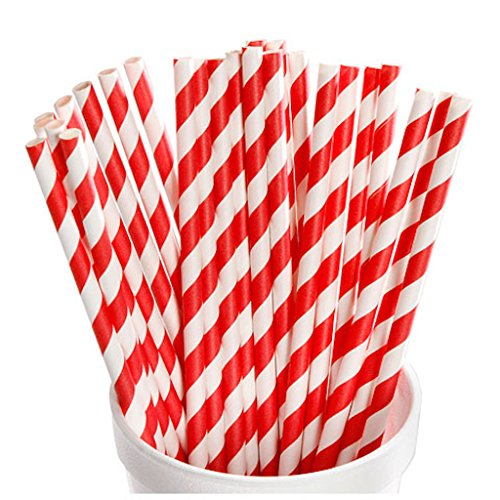 shion Look Red and White Paper Straws From the David Tutera Bridal Collection ()