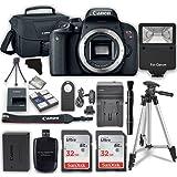 Canon EOS Rebel T7i Digital SLR Camera (Body) + 2x 32GB Class 10 SD Memory Card + Accessory Bundle