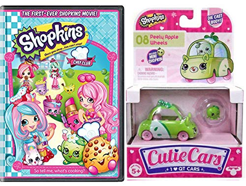 Club Chef QT Wild Shopkins Car & Toon! Double Pack Chef Club Adventure and 1 Cutie car Grab your boarding pass and ride in your cute vehicle (Chef Love In)