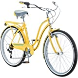 26' Schwinn Fairhaven Women's 7-Speed Cruiser Bike, S3061WMDDS, Yellow