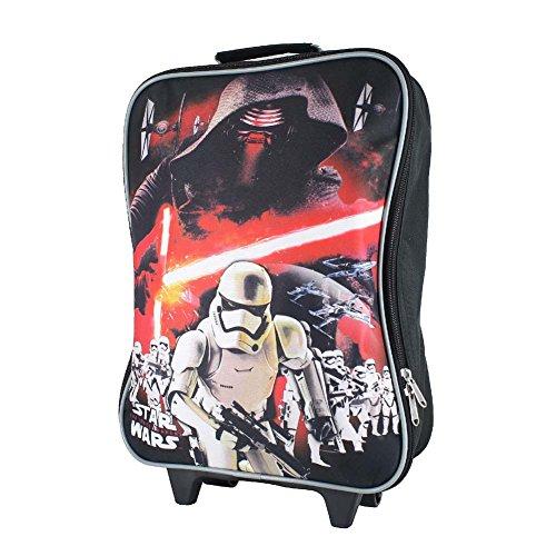 - Disney Nickelodeon Marvel 15 Inch Kids Rolling Backpack Luggage Pilot Case, BP-5583 STAR WARS BLACK