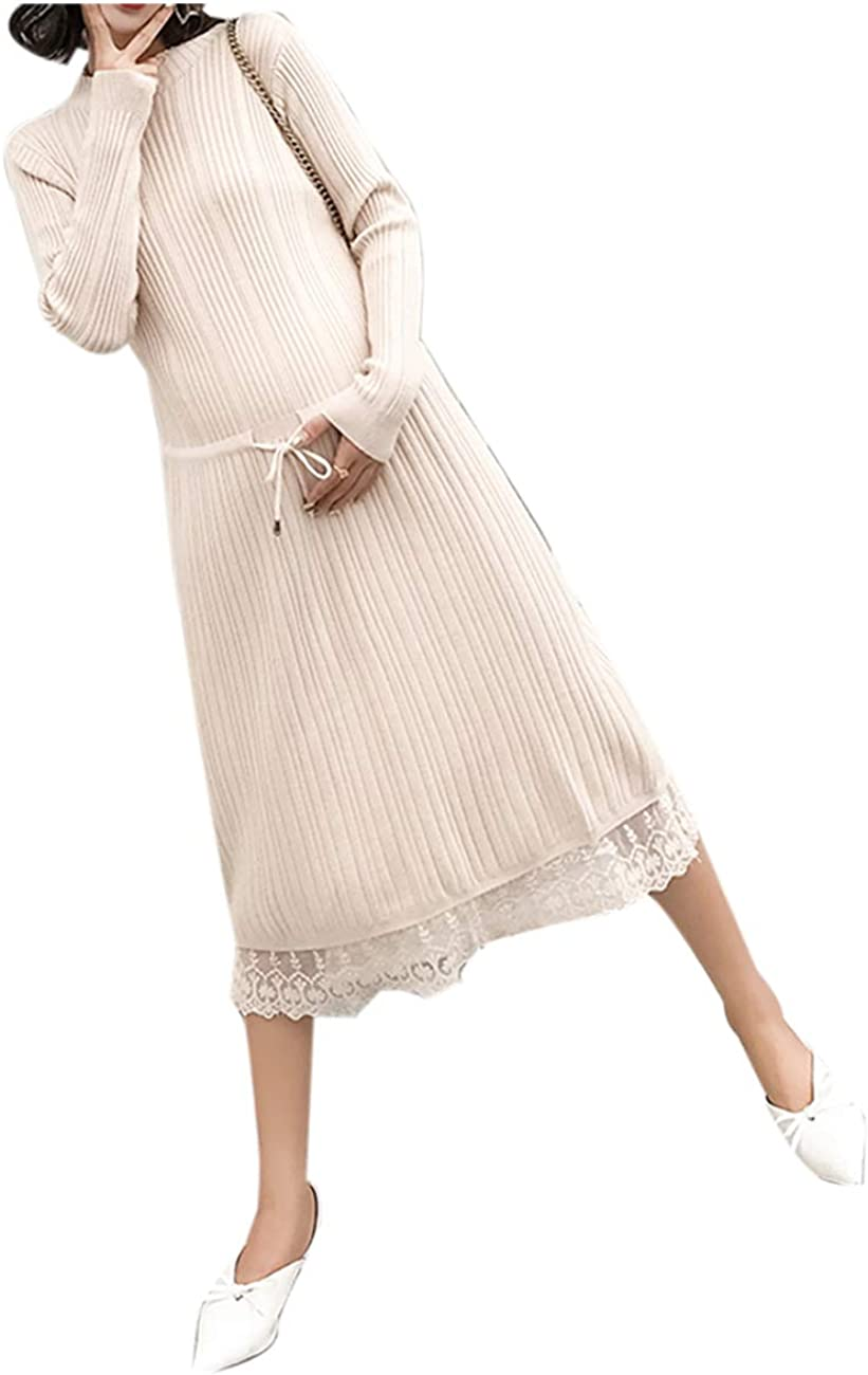 Zhxinashu Pregnant Elegant Maternity Knit Dress Women Loose Clothing Beige At Amazon Women S Clothing Store