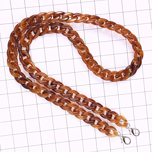 Handbag Buckles Imbricata Strap Chain Strap Resin Ladies LUOEM with Bag Plastic 120cm Eretmochelys Bag Replaement Women nOSnqYRZ