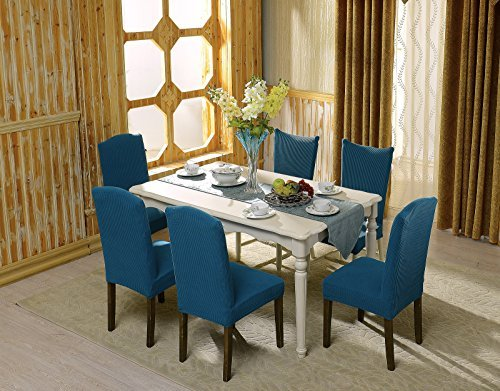 Subrtex Dyed Jacquard Stretch Dining Room Chair Slipcovers