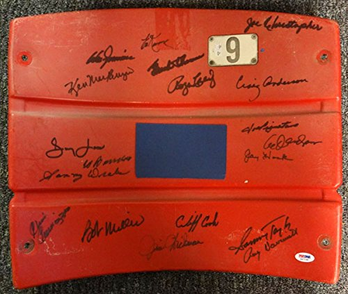 igned Autographed Shea Stadium Seatback With 19 Signatures Including Don Zimmer & Roger Craig PSA/DNA #K47168 (Autographed Shea Stadium)