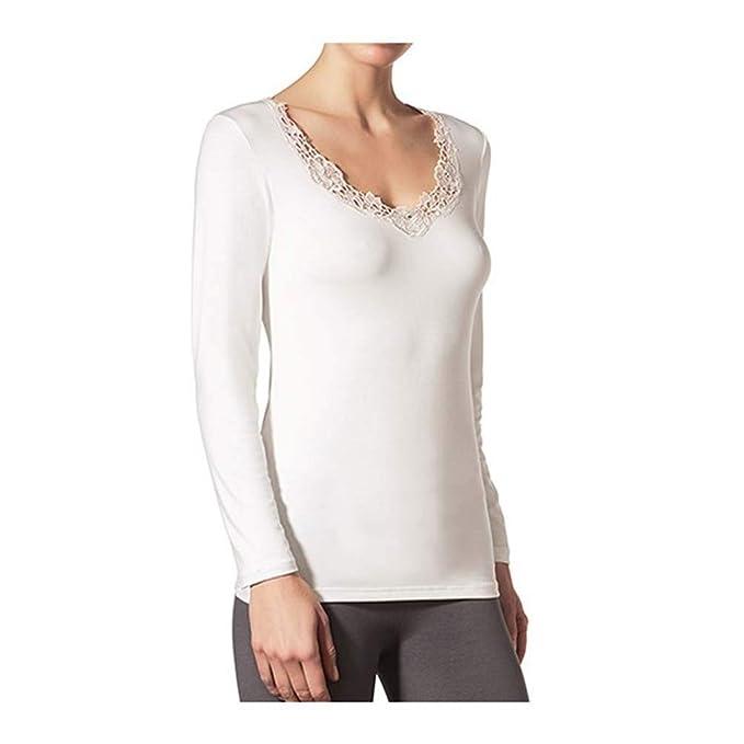 JANIRA Camiseta con Aplique de guipour Lilac M L - Dune 0dc00eefbcf4