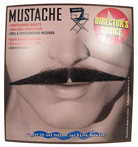 Men's Self Adhesive Old Fashioned Moustache (Black) - Rhett Butler Costumes